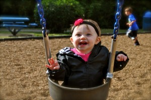 Happy Swinging Baby