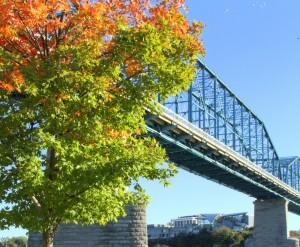 Walnut Street Bridge and Hunter Museum