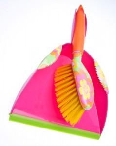 pink dustpan