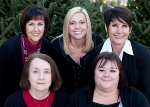 The NorthShore/Realty Center Team Kim Love, Kathy Butcher, Vickie Champion,  Betty Cooper, Rebecca Carpenter